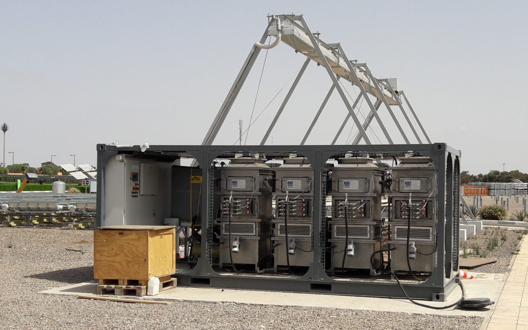 Blog #15 The MinWaterCSP coordination team visits the IRESEN Demonstration site in Morocco where the deluge cooling fouling test rig has been installed