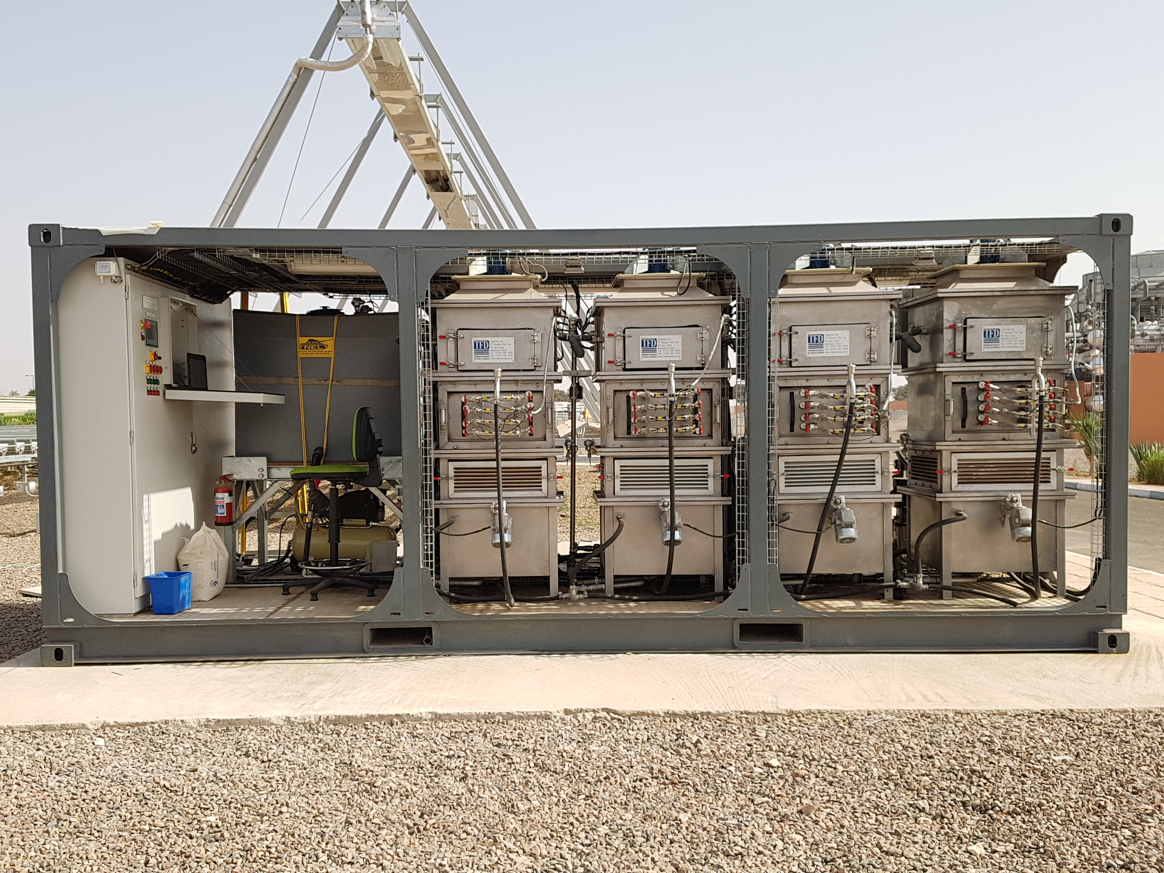 Picture 3: Fouling test rig, Green Energy Park in Morocco (photo: IRESEN/ENEXIO)